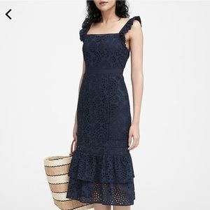 NWT Banana Republic Eyelet Pinafore Dress